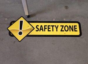 Safety Zone Floor Vinyl Graphics