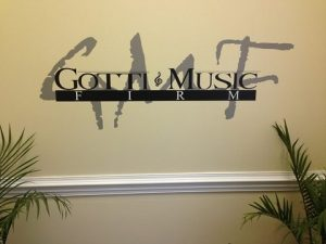 Gotti Music Cut Vinyl Lobby Logo Sign